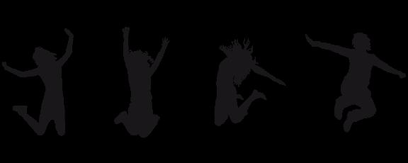 Lapsille tekemistä - hyppivien lasten siluetit