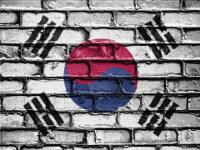 Korean pihaleikit: Tiiliseinään maalattu lippu