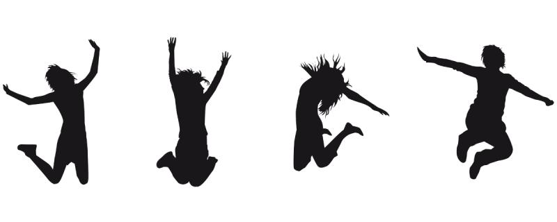 Tervetuloa hyppivien lasten kuvan kera